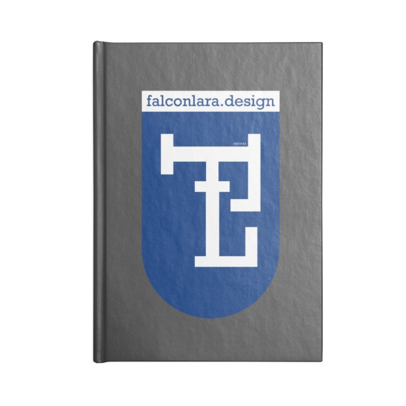 Falcón Lara Herald Blue Accessories Lined Journal Notebook by falconlara.design shop