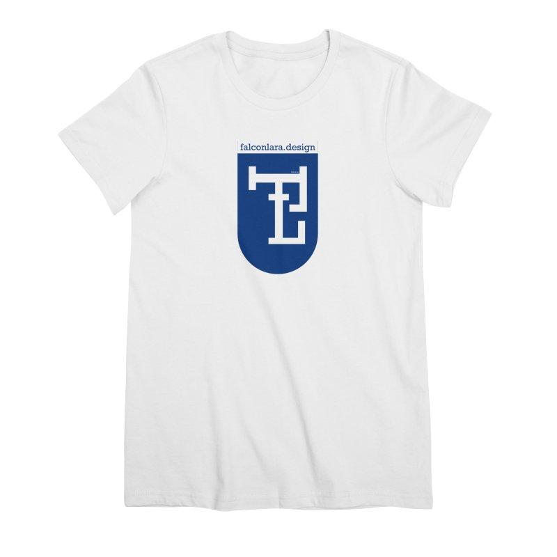 Falcón Lara Herald Blue Women's Premium T-Shirt by falconlara.design shop