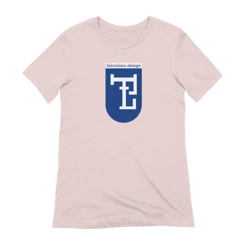 Falcón Lara Herald Blue Women's Extra Soft T-Shirt by falconlara.design shop