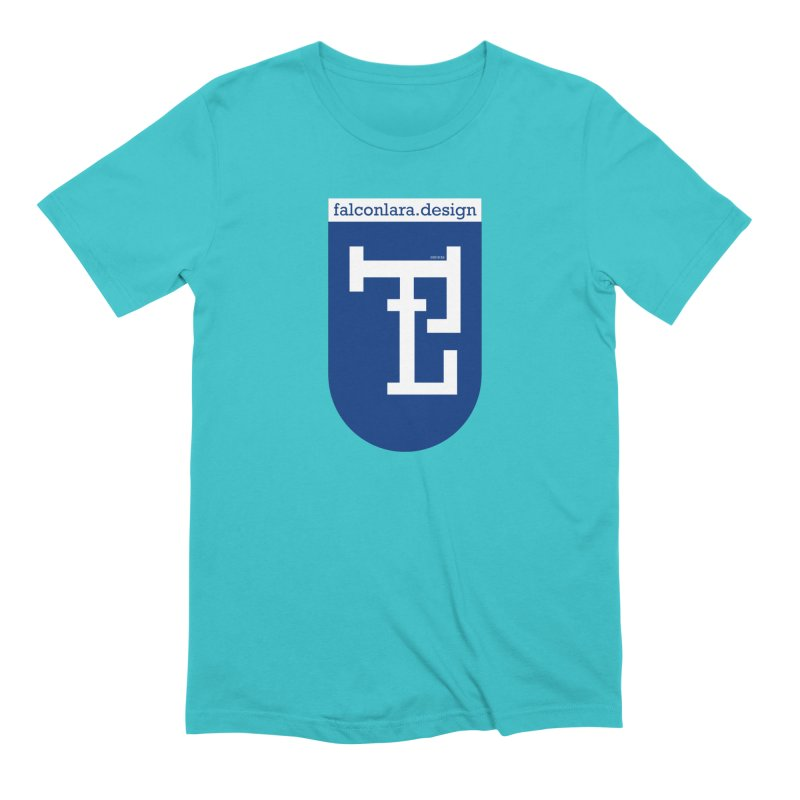 Falcón Lara Herald Blue Men's Extra Soft T-Shirt by falconlara.design shop