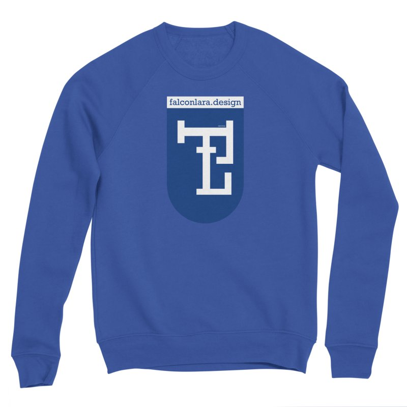 Falcón Lara Herald Blue Men's Sponge Fleece Sweatshirt by falconlara.design shop