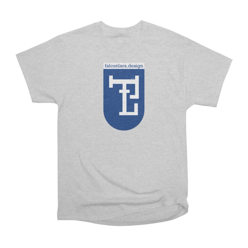Falcón Lara Herald Blue Men's Heavyweight T-Shirt by falconlara.design shop