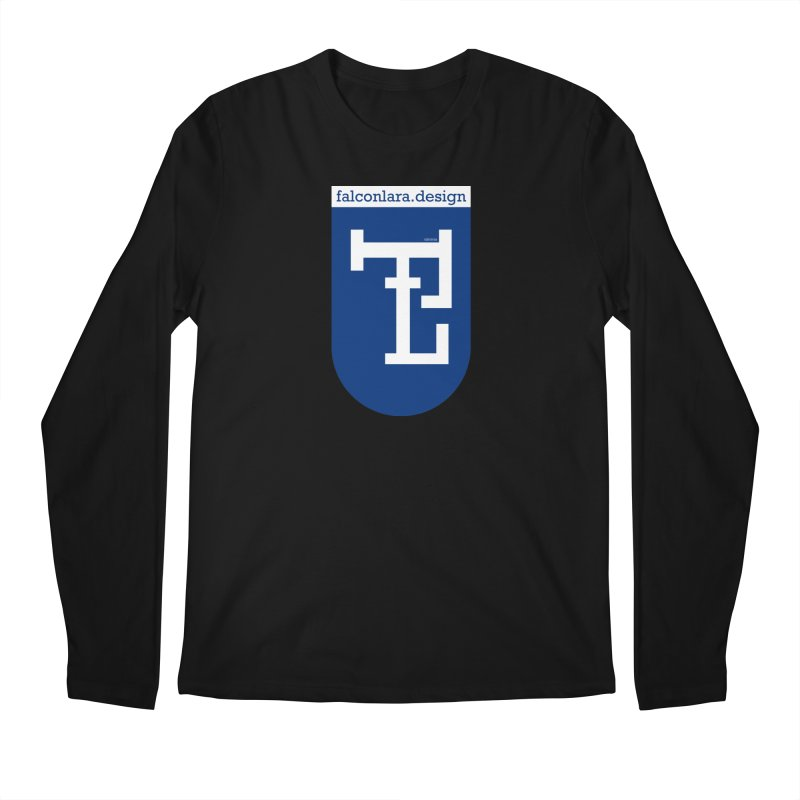 Falcón Lara Herald Blue Men's Regular Longsleeve T-Shirt by falconlara.design shop