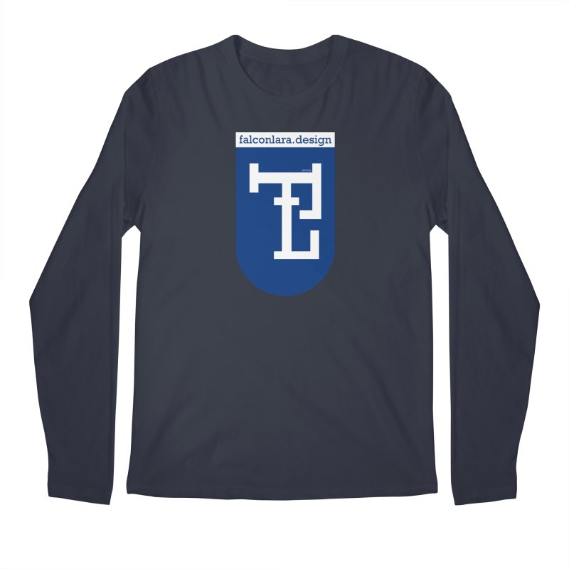 Falcón Lara Herald Blue Men's Regular Longsleeve T-Shirt by falconlara.design shop