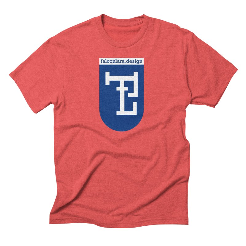 Falcón Lara Herald Blue Men's Triblend T-Shirt by falconlara.design shop