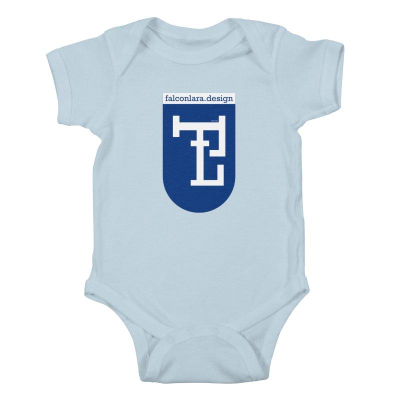 Falcón Lara Herald Blue Kids Baby Bodysuit by falconlara.design shop