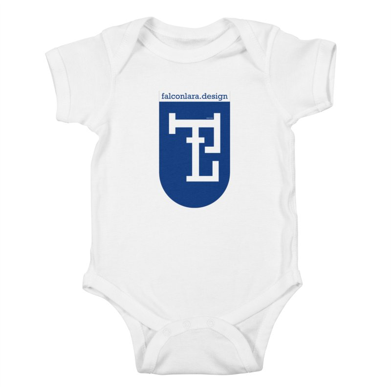 Falcón Lara Herald Blue Kids Baby Bodysuit by falconlara.design shop