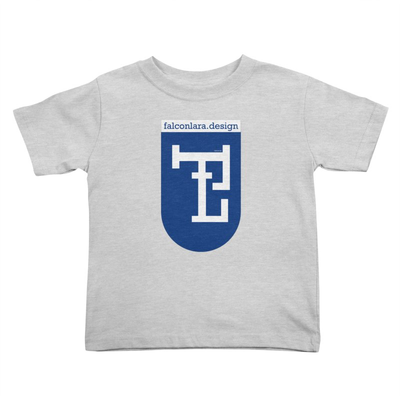 Falcón Lara Herald Blue Kids Toddler T-Shirt by falconlara.design shop