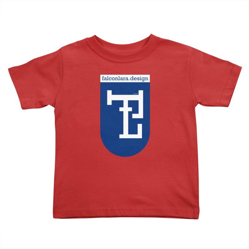 Falcón Lara Herald Blue Kids Toddler T-Shirt by falconlara.design shop