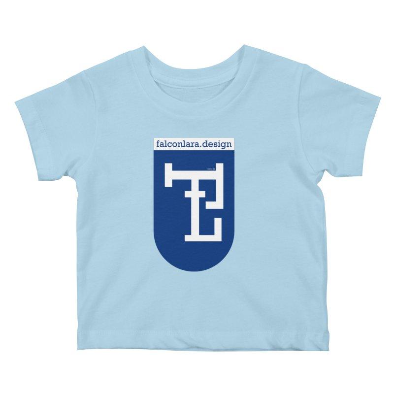 Falcón Lara Herald Blue Kids Baby T-Shirt by falconlara.design shop