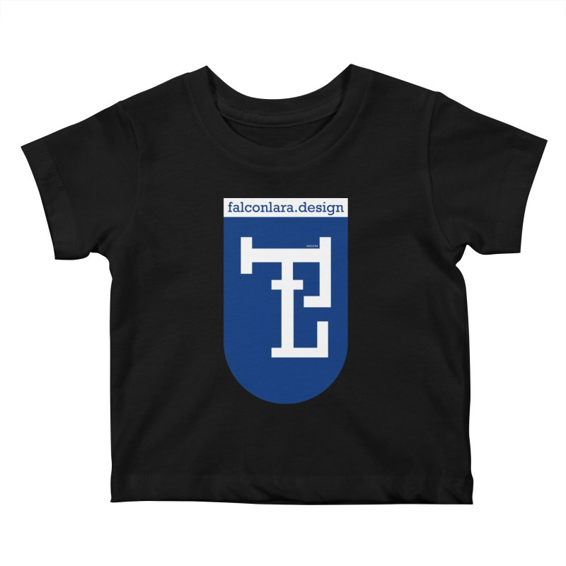 Falcón Lara Herald Blue Kids Baby T-Shirt by falconlara.design shop