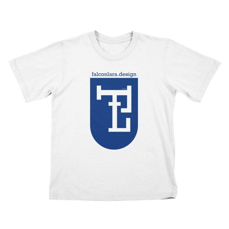 Falcón Lara Herald Blue Kids T-Shirt by falconlara.design shop