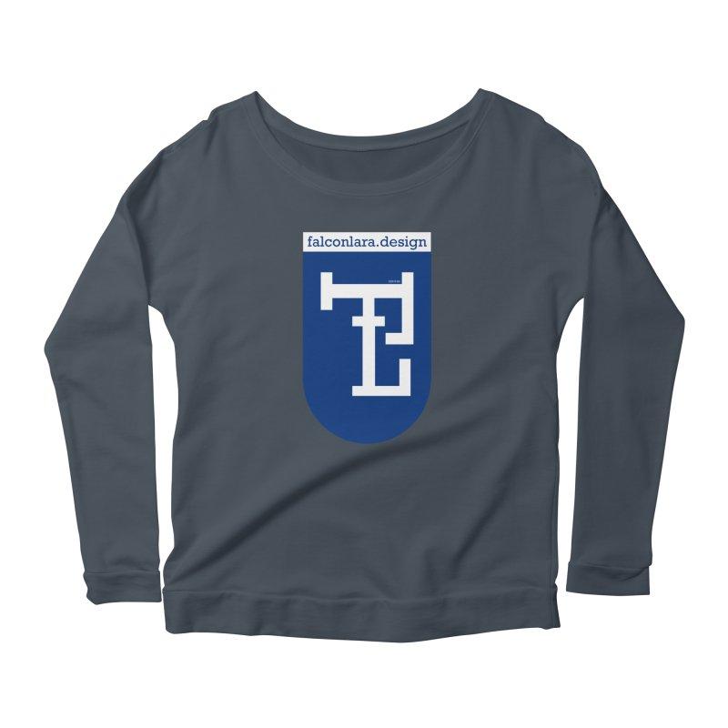 Falcón Lara Herald Blue Women's Scoop Neck Longsleeve T-Shirt by falconlara.design shop