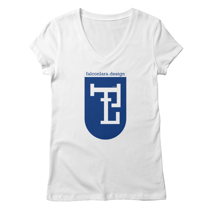 Falcón Lara Herald Blue Women's Regular V-Neck by falconlara.design shop
