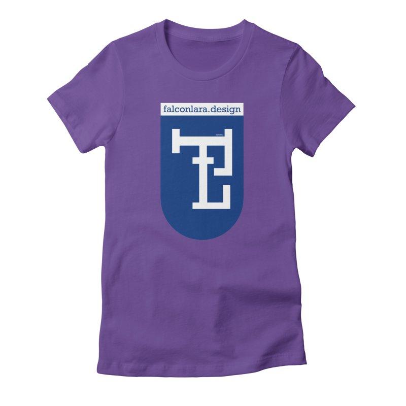 Falcón Lara Herald Blue Women's Fitted T-Shirt by falconlara.design shop
