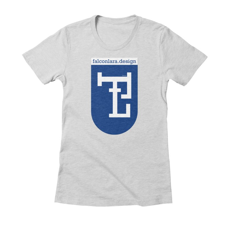 Falcón Lara Herald Blue Women's Fitted T-Shirt by falconlara.design shop