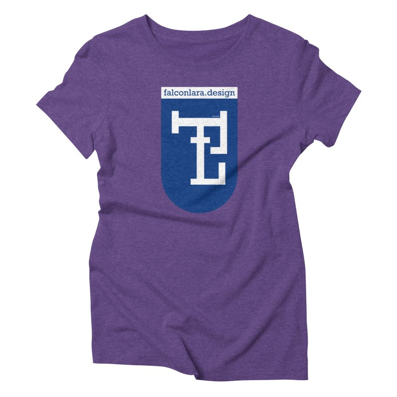 Falcón Lara Herald Blue Women's Triblend T-Shirt by falconlara.design shop