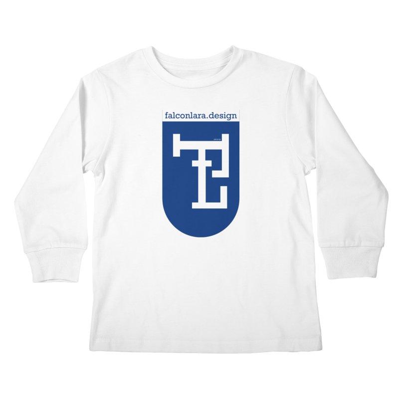 Falcón Lara Herald Blue Kids Longsleeve T-Shirt by falconlara.design shop