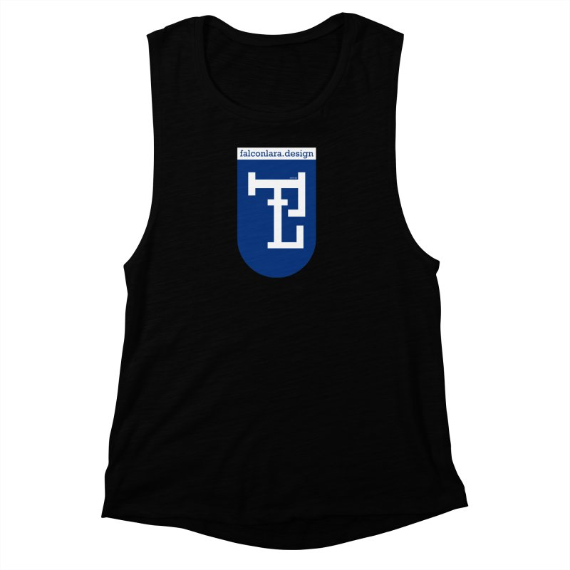 Falcón Lara Herald Blue Women's Muscle Tank by falconlara.design shop