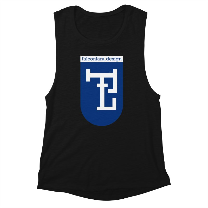 Falcón Lara Herald Blue Women's Muscle Tank by falconlara.design shop