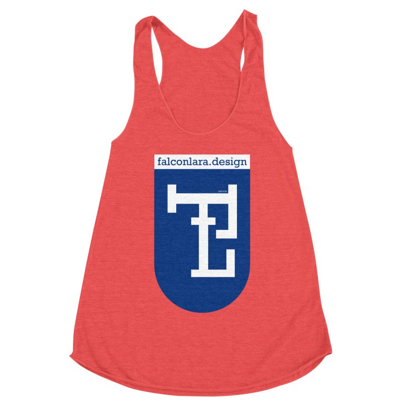 Falcón Lara Herald Blue Women's Racerback Triblend Tank by falconlara.design shop