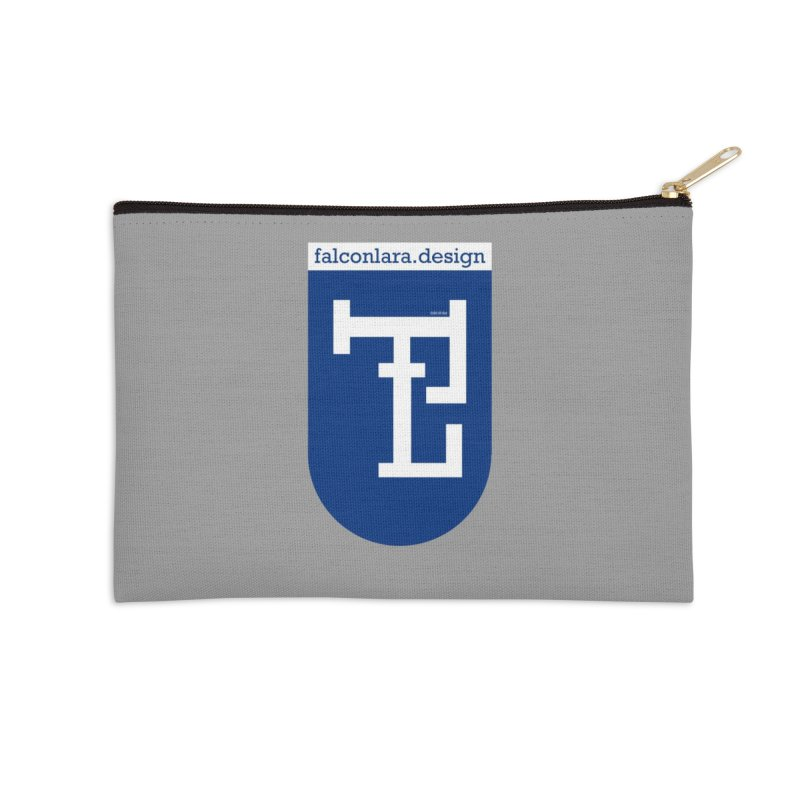 Falcón Lara Herald Blue Accessories Zip Pouch by falconlara.design shop