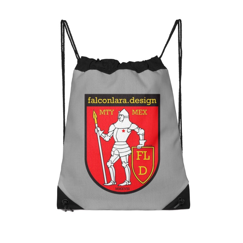 Red Shield Knight Emblem Accessories Drawstring Bag Bag by falconlara.design shop