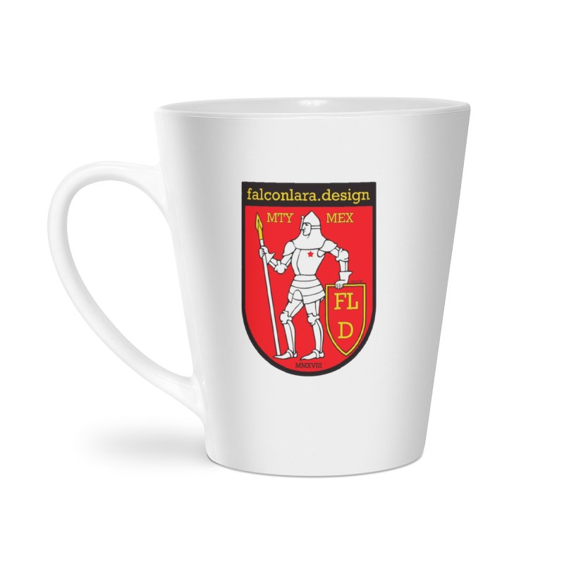 Red Shield Knight Emblem Accessories Latte Mug by falconlara.design shop