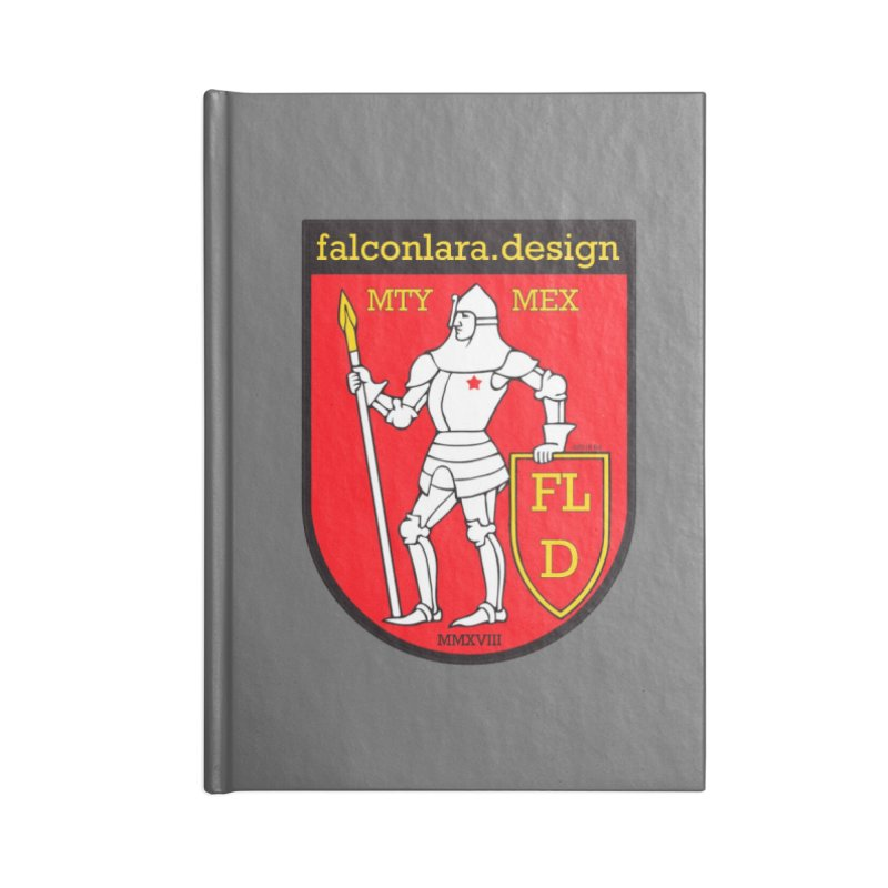 Red Shield Knight Emblem Accessories Lined Journal Notebook by falconlara.design shop