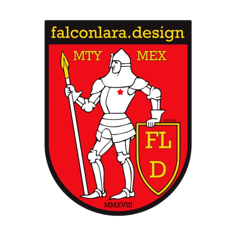 Red Shield Knight Emblem   by falconlara.design shop