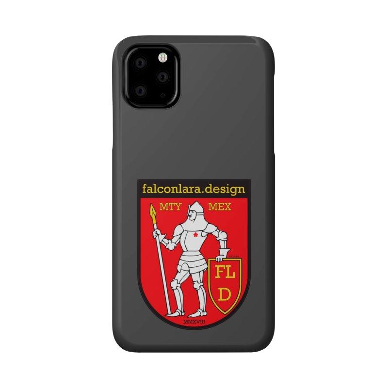 Red Shield Knight Emblem Accessories Phone Case by falconlara.design shop