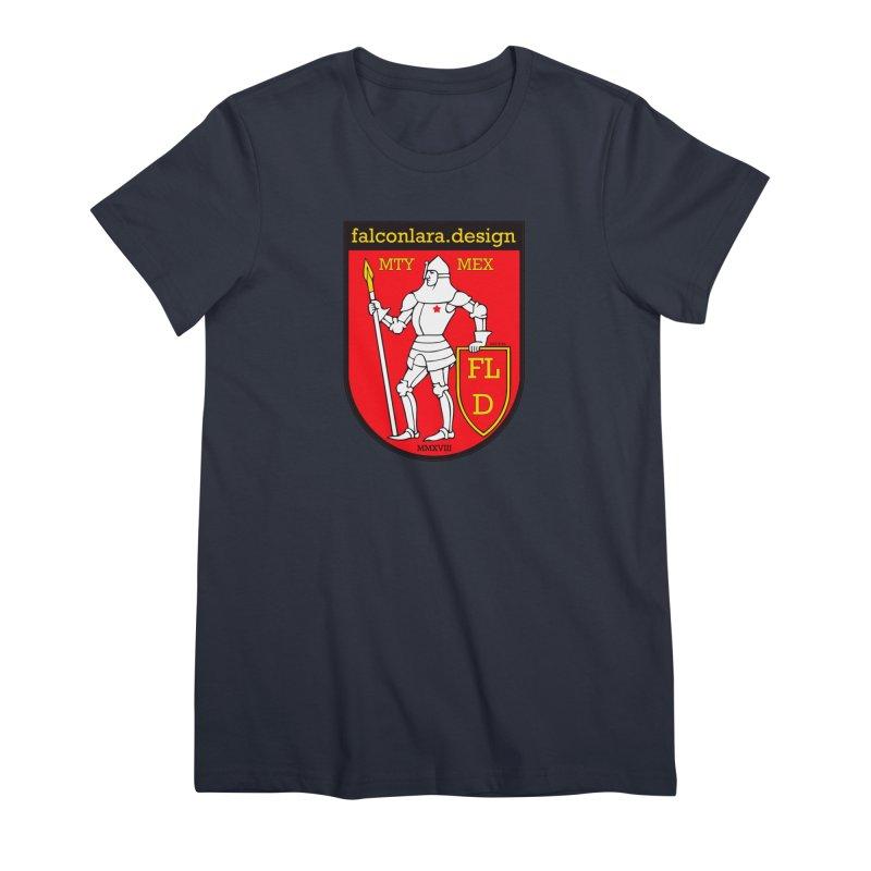 Red Shield Knight Emblem Women's Premium T-Shirt by falconlara.design shop