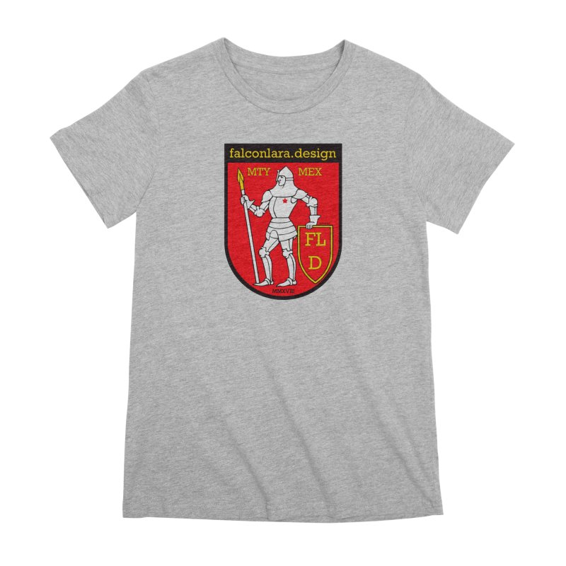 Red Shield Knight Emblem Women's Premium T-Shirt by falconlara.design shop