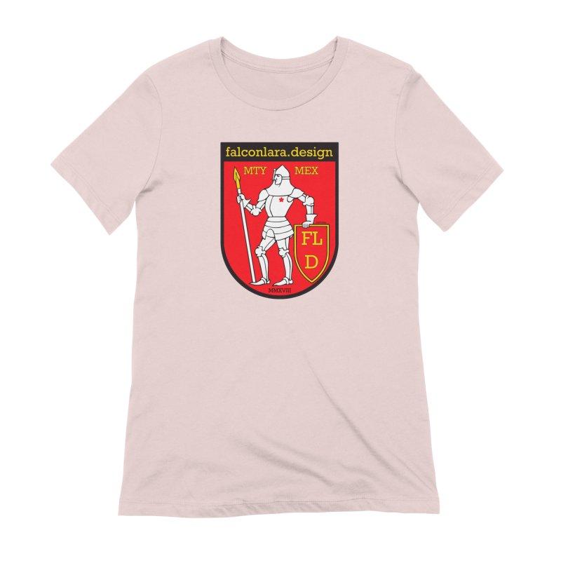 Red Shield Knight Emblem Women's Extra Soft T-Shirt by falconlara.design shop
