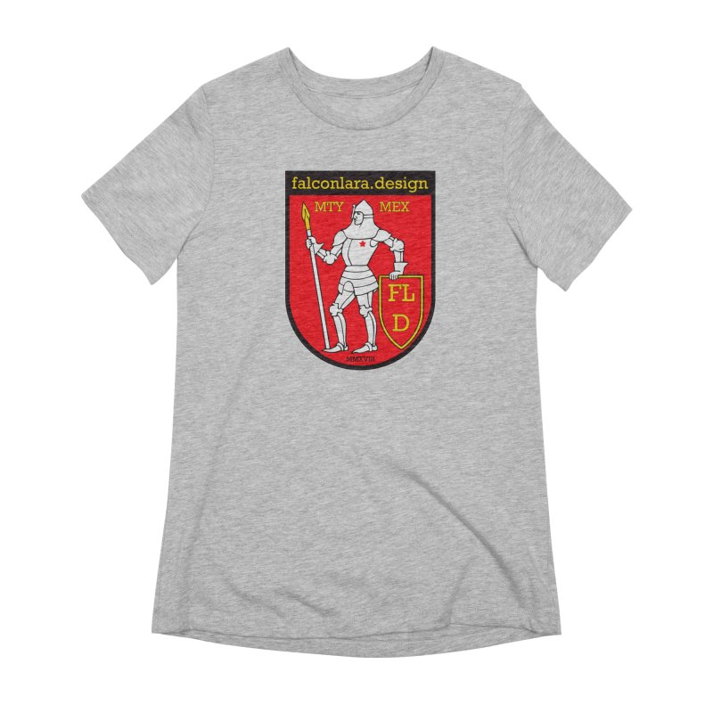 Red Shield Knight Emblem Women's Extra Soft T-Shirt by falconlara.design shop