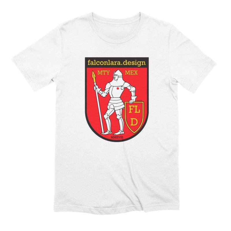 Red Shield Knight Emblem Men's Extra Soft T-Shirt by falconlara.design shop