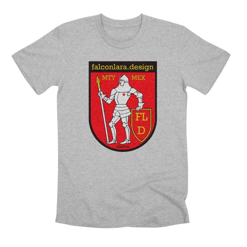 Red Shield Knight Emblem Men's Premium T-Shirt by falconlara.design shop