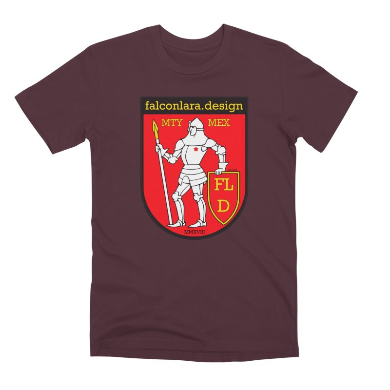 Red Shield Knight Emblem Men's Premium T-Shirt by falconlara.design shop