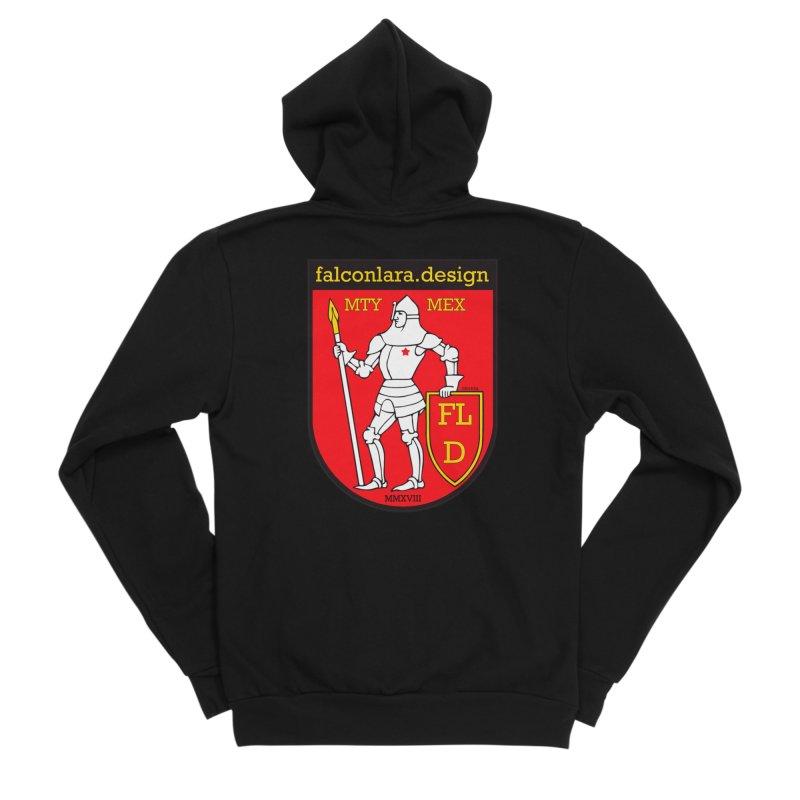 Red Shield Knight Emblem Men's Sponge Fleece Zip-Up Hoody by falconlara.design shop