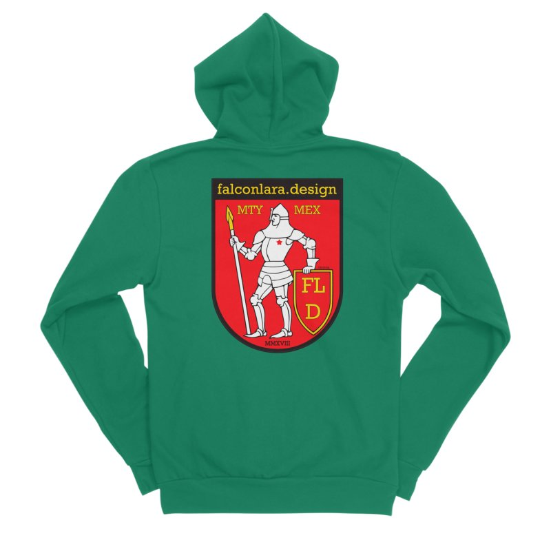 Red Shield Knight Emblem Men's Sponge Fleece Zip-Up Hoody by falconlara.design shop