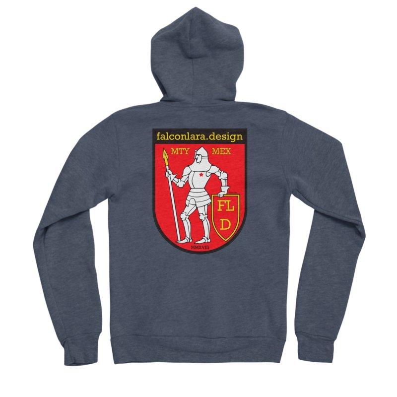 Red Shield Knight Emblem Women's Sponge Fleece Zip-Up Hoody by falconlara.design shop