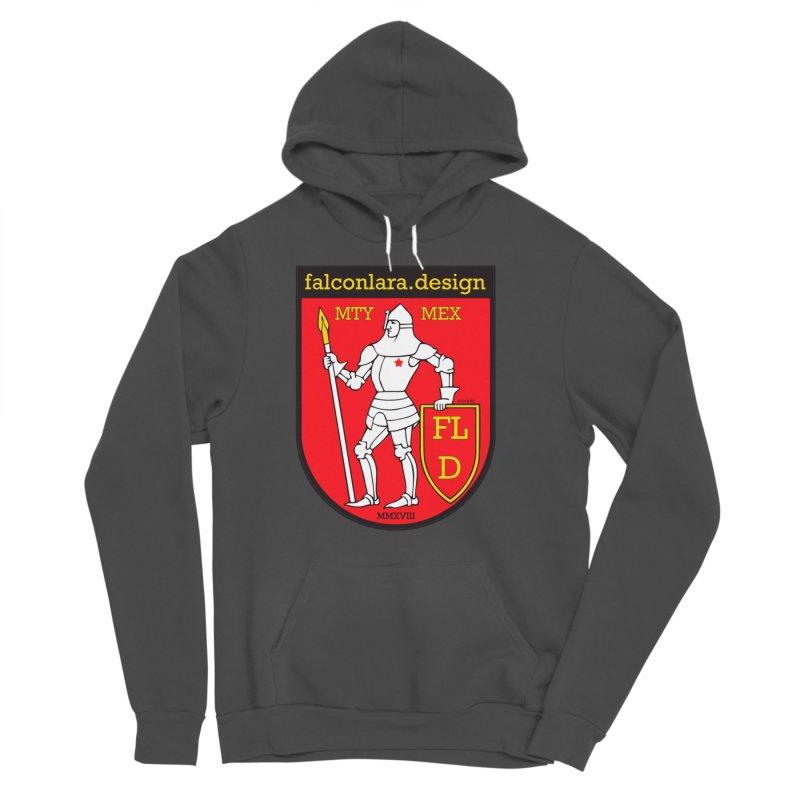 Red Shield Knight Emblem Women's Sponge Fleece Pullover Hoody by falconlara.design shop