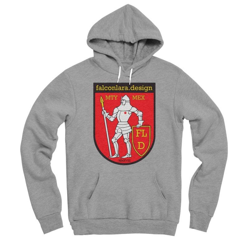 Red Shield Knight Emblem Men's Sponge Fleece Pullover Hoody by falconlara.design shop