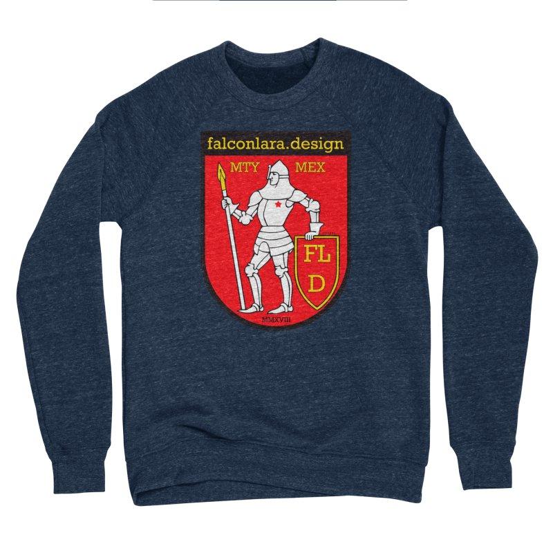 Red Shield Knight Emblem Men's Sponge Fleece Sweatshirt by falconlara.design shop