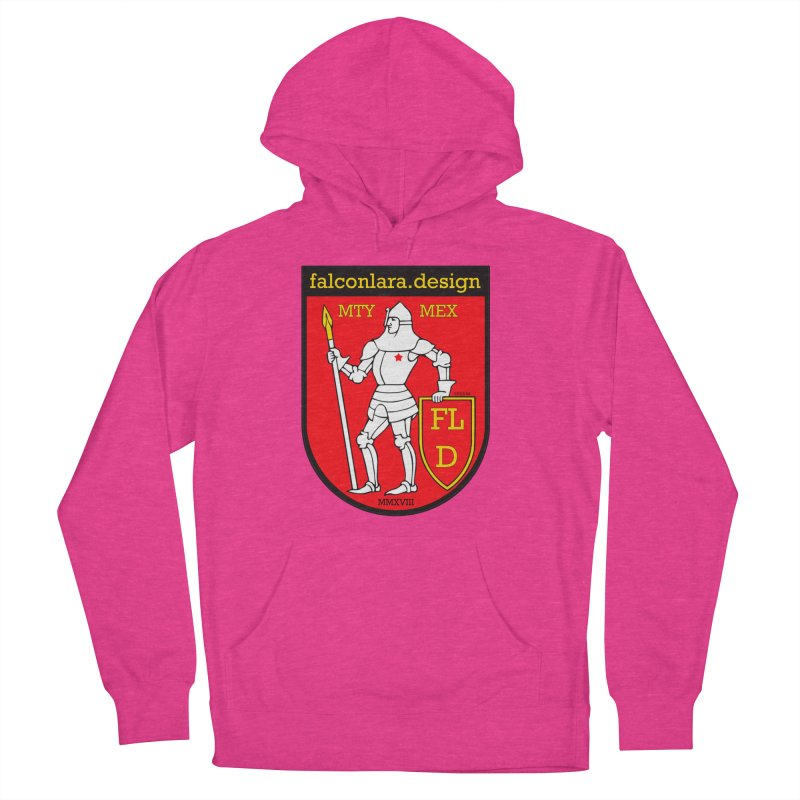 Red Shield Knight Emblem Women's French Terry Pullover Hoody by falconlara.design shop