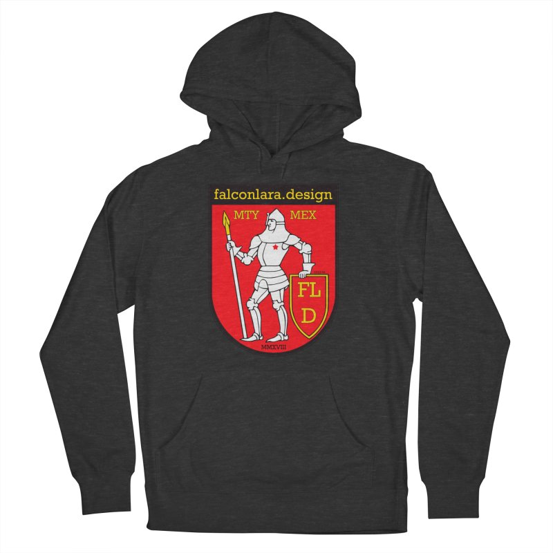 Red Shield Knight Emblem Men's French Terry Pullover Hoody by falconlara.design shop