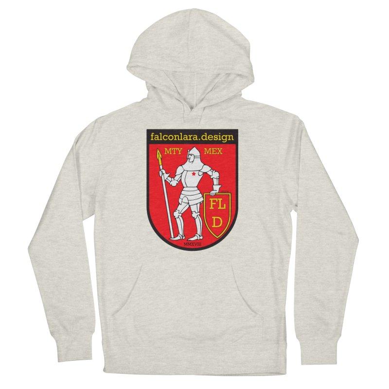 Red Shield Knight Emblem Men's French Terry Pullover Hoody by falconlara.design shop