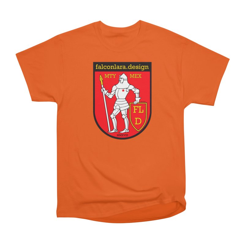 Red Shield Knight Emblem Men's Heavyweight T-Shirt by falconlara.design shop