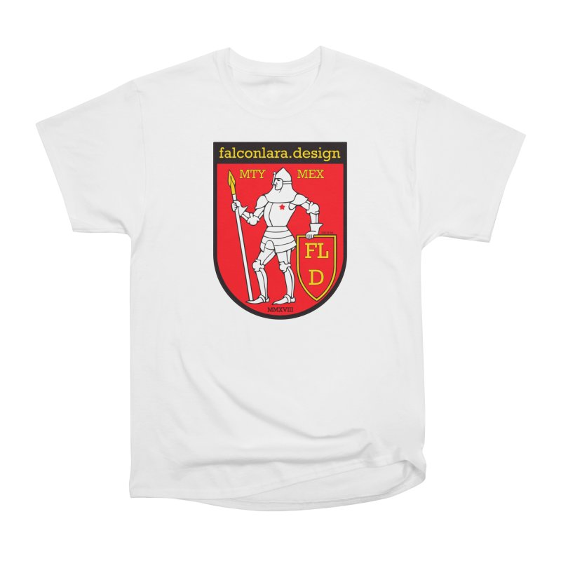 Red Shield Knight Emblem Women's Heavyweight Unisex T-Shirt by falconlara.design shop