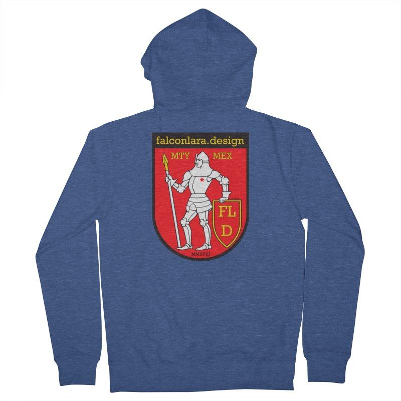 Red Shield Knight Emblem Women's French Terry Zip-Up Hoody by falconlara.design shop